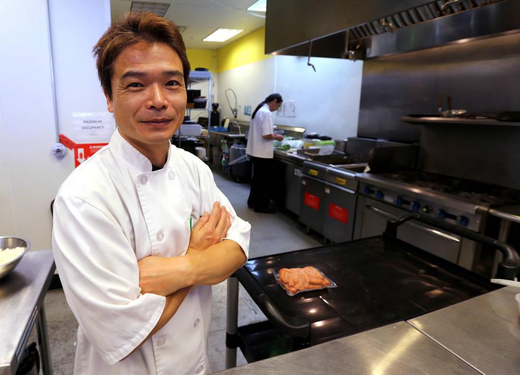 Chef Kaoru Azeuchi at Kaiseki Yuzu in Las Vegas Monday, May 7, 2018. K.M. Cannon Las Vegas Review-Journal @KMCannonPhoto