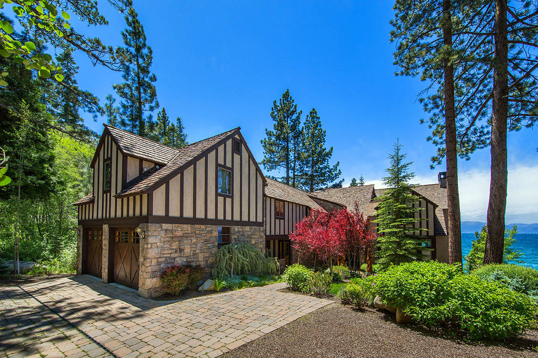 This Lakefront estate on the east shore of Lake Tahoe has listed for nearly $11 million. (Oliver Luxury Real Estate)