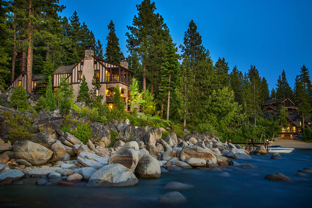 Stone Creek sits on 1.62 acres and has 174 feet of lakefront. (Oliver Luxury Real Estate)