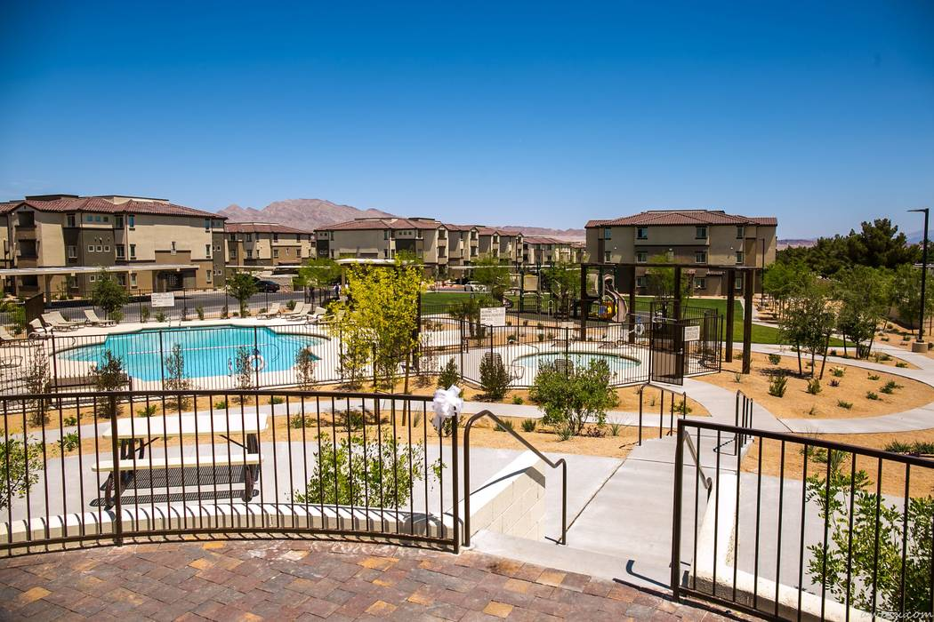 Part of the innovative Boulder Highway Collaborative Campus, the Boulder Pines Family Apartments includes amenities and a resident service coordinator. (Boulder Highway Collaborative Campus)