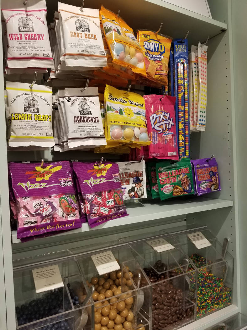 An assortment of candy on display Tuesday, May 29, 2018, at the Lolli & Pops candy store at the Fashion Show shopping center. Wade Tyler Millward Las Vegas Review-Journal.