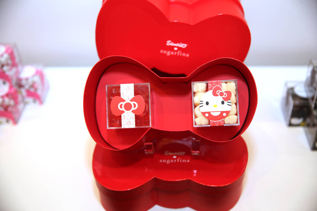 Hello Kitty-themed gummies at Sugarfina inside Fashion Show Mall in Las Vegas, Wednesday, May 23, 2018. Sugarfina opened its Las Vegas location in April. Erik Verduzco Las Vegas Review-Journal @Er ...