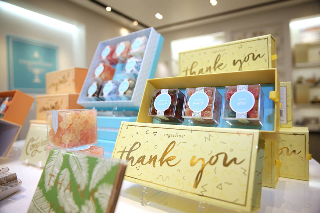 Candies at Sugarfina inside Fashion Show Mall in Las Vegas, Wednesday, May 23, 2018. Sugarfina opened its Las Vegas location in April. Erik Verduzco Las Vegas Review-Journal @Erik_Verduzco