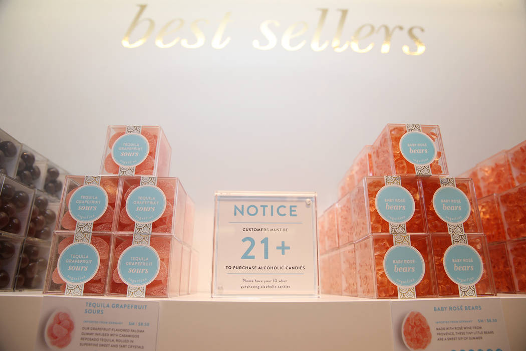 Gummies at Sugarfina inside Fashion Show Mall in Las Vegas, Wednesday, May 23, 2018. Sugarfina opened its Las Vegas location in April. Erik Verduzco Las Vegas Review-Journal @Erik_Verduzco