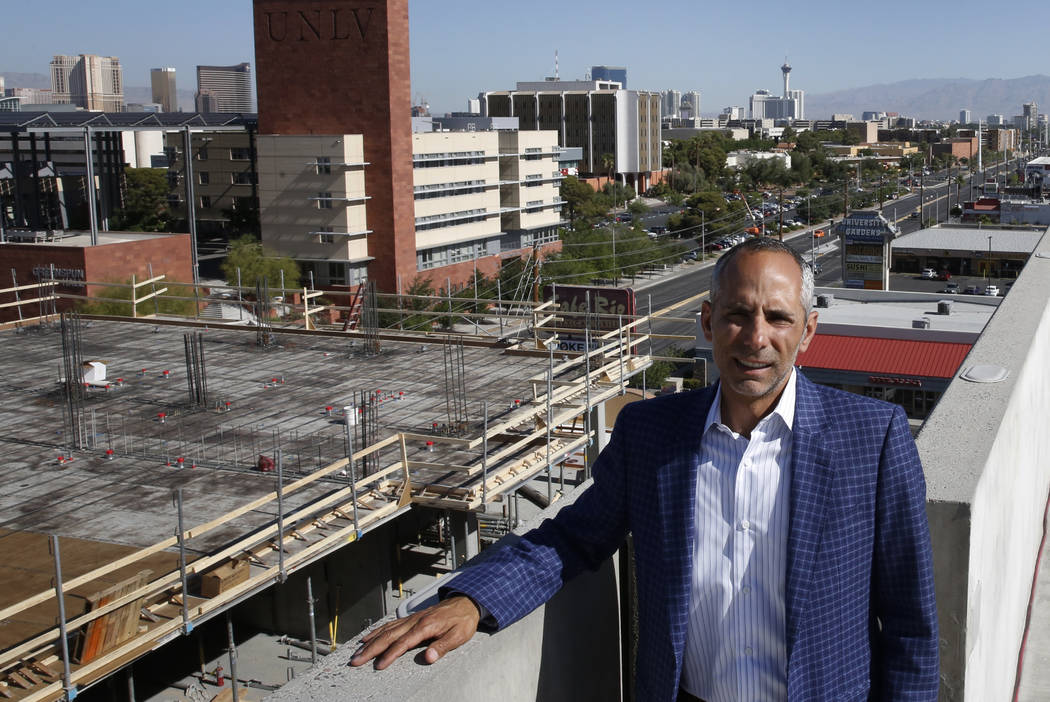 Frank Marretti, the developer of University Gateway, a mixed-use development under construction on Maryland Parkway, poses for photo on Thursday, May 24, 2018, in Las Vegas. Bizuayehu Tesfaye/Las ...