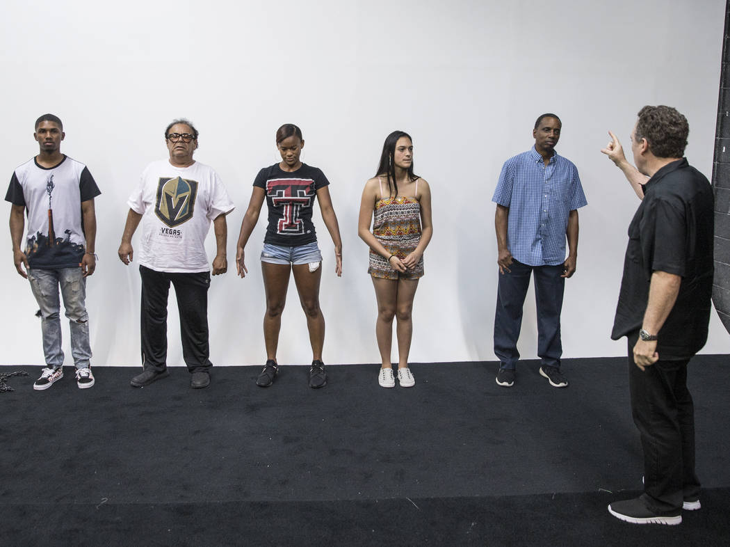 Acting coach Daryl Morris, right, conducts acting class on Tuesday, May 29, 2018, at Indie Film Factory, in Las Vegas. Benjamin Hager Las Vegas Review-Journal @benjaminhphoto