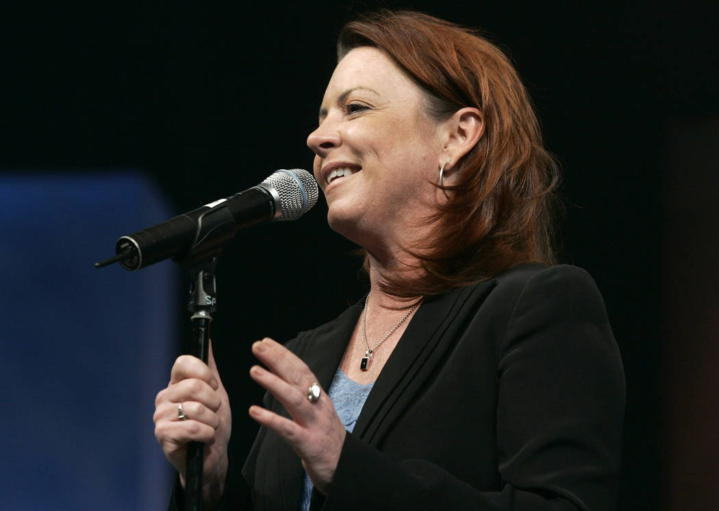 Comedian Kathleen Madigan during the NASCAR Nationwide Series awards banquet in Orlando, Fla., Saturday, Nov. 22, 2008. (AP Photo/Reinhold Matay)