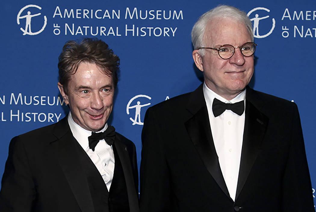 Martin Short, left, and Steve Martin, right, attend the American Museum of Natural History's Museum Gala on Thursday, Nov. 17, 2016, in New York. (Photo by Andy Kropa/Invision/AP)
