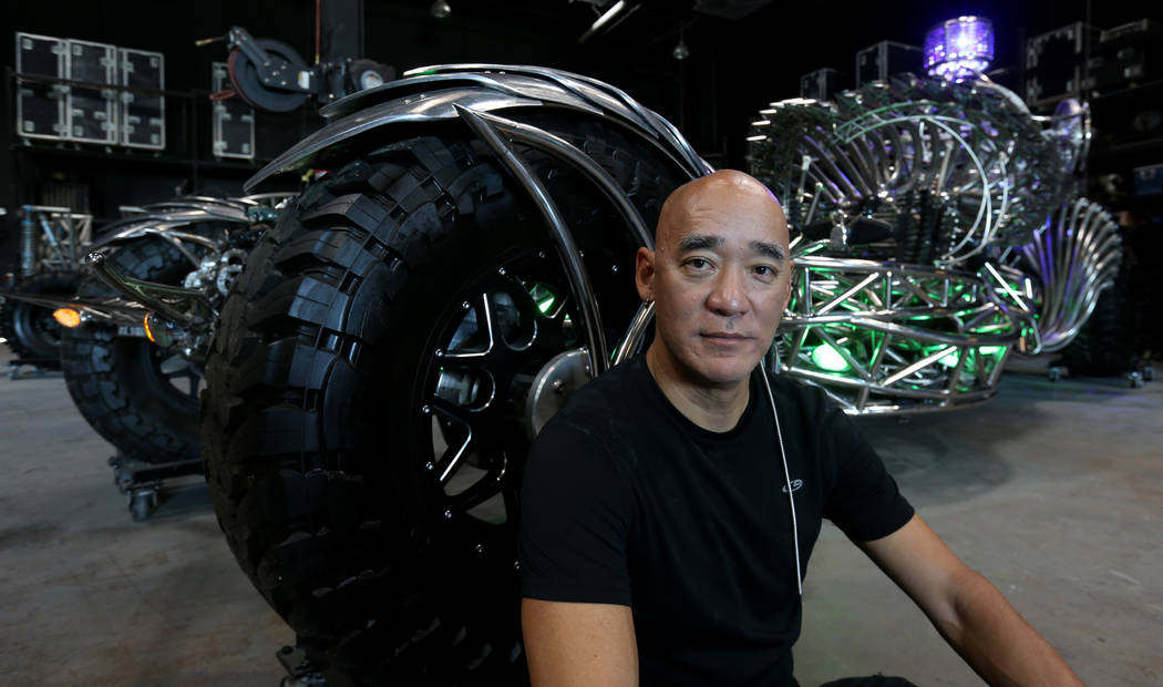 Artist Henry Chang with his art car Valyrian Steel at his Las Vegas studio Wednesday, May 30, 2018, in preparation for the upcoming Intergalactic Art Car Festival on Saturday, June 9. The festival ...