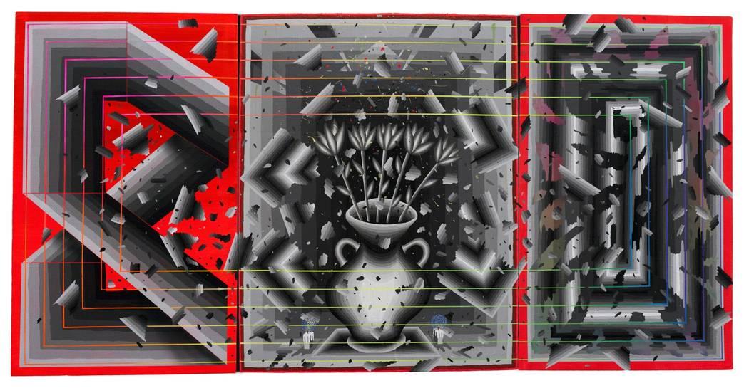 """Artist Andrew Schoultz's """"Dark Arrangements,"""" part of a new exhibit and installation opening June 2 at UNLV's Marjorie Barrick Museum of Art."""