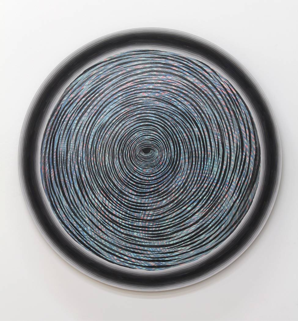 "Artist Andrew Schoultz's ""Radiating Eye,"" part of a new installation and exhibit opening June 2 at UNLV's Marjorie Barrick Museum of Art."