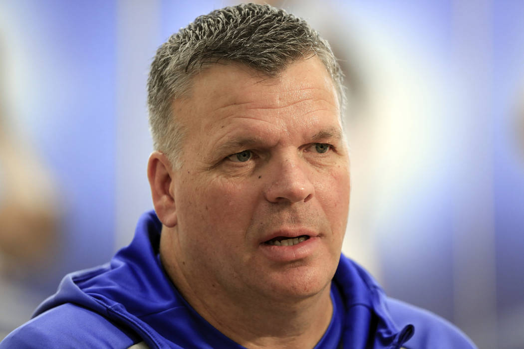Creighton basketball coach Greg McDermott speaks in Omaha, Neb., Thursday, March 1, 2018. McDermott's high-risk decision to bring in Marcus Foster as a transfer three years ago has been highly rew ...