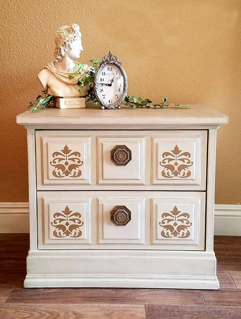 Old to Ooh La La Victoria Konhorst of Old to Ooh La La refinished this piece to sell and then liked it so much she decided to use it in her house.
