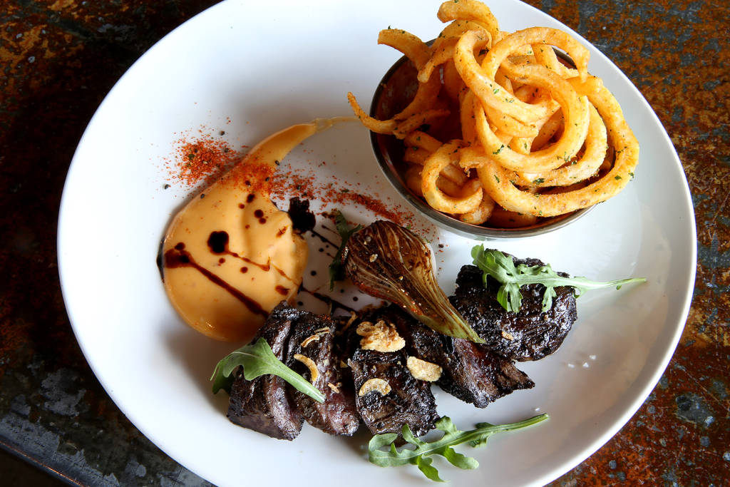 The ButchersÕ Steak at Flock & Fowl DTLV located inside The Ogden at Ogden Avenue and Las Vegas Boulevard in downtown Las Vegas Saturday, May 26, 2018. K.M. Cannon Las Vegas Review-Journa ...