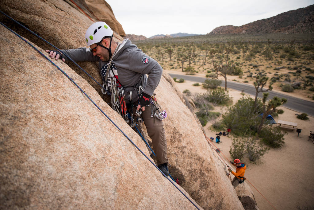 Shawn Sturges became a rock climber after losing his sight. Shawn Sturges