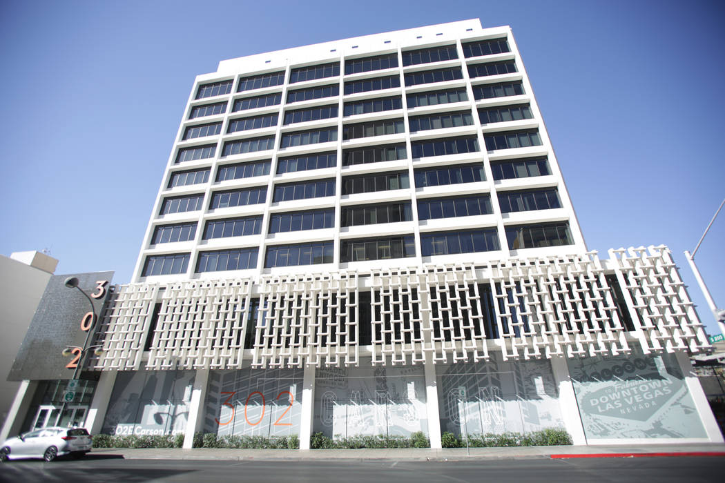 The office building at 302 E. Carson Avenue, as seen on Friday, June 1, 2018, was recently purchased by The D hotel casino owner Derek Stevens. Michael Quine Las Vegas Review-Journal @Vegas88s