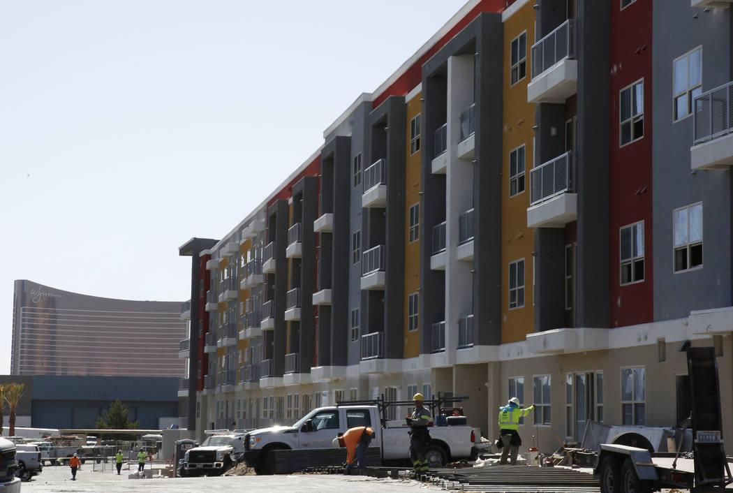 The exterior of Lotus apartment complex at 3616 Spring Mountain Road photographed on Friday, June 1, 2018, in Las Vegas. Bizuayehu Tesfaye/Las Vegas Review-Journal @bizutesfaye