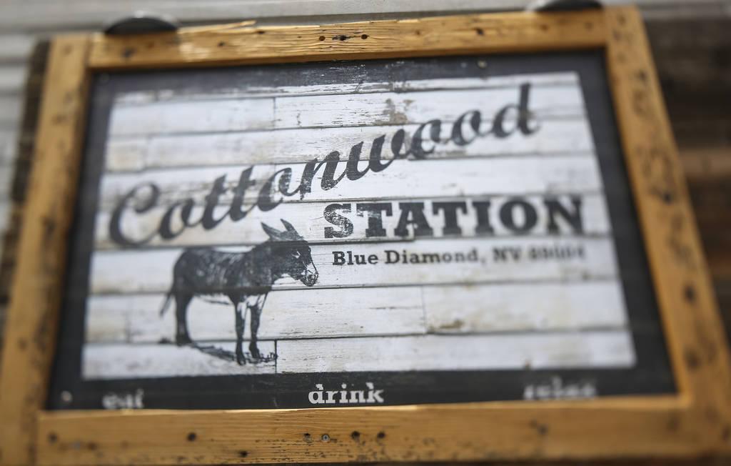 Exterior sign at Cottonwood Station in Blue Diamond, on Saturday, June 2, 2018. Richard Brian Las Vegas Review-Journal @vegasphotograph