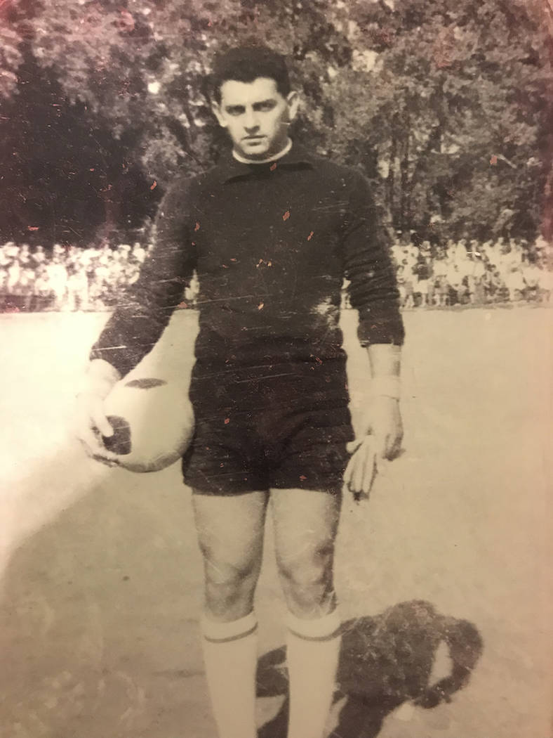 Eddy Biren poses on soccer field in Canada in June 1963. (Courtesy of Eddy Biren)