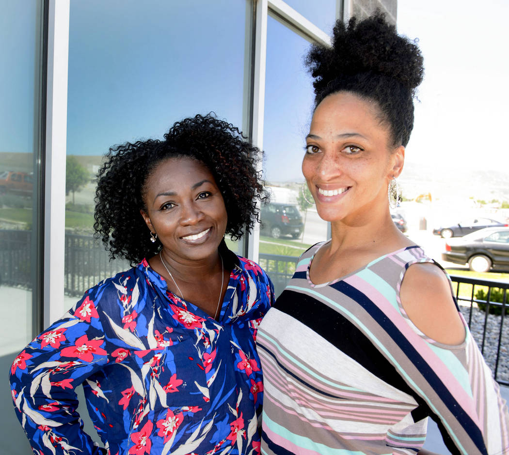 "Mormon women Tamu Smith, left, and Dr. LaShawn Williams in Lehi, Utah. Williams, an assistant professor in social work at Utah Valley University, would like an apology. ""If we preach repentance, ..."