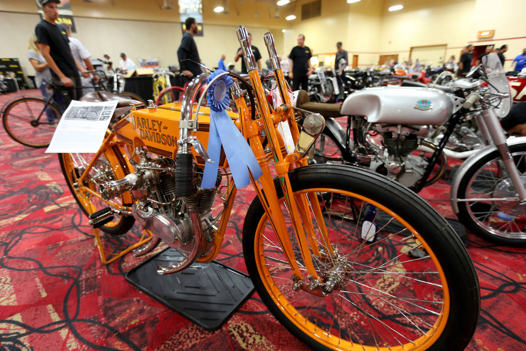 A 1915 Harley-Davidson 11K at the Mecum Las Vegas Motorcycle Auction at the South Point Friday, June 1, 2018. K.M. Cannon Las Vegas Review-Journal @KMCannonPhoto