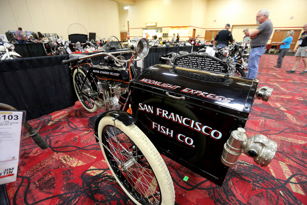 A 1912 Reading Standard Single Delivery during the Mecum Las Vegas Motorcycle Auction at the South Point Friday, June 1, 2018. K.M. Cannon Las Vegas Review-Journal @KMCannonPhoto
