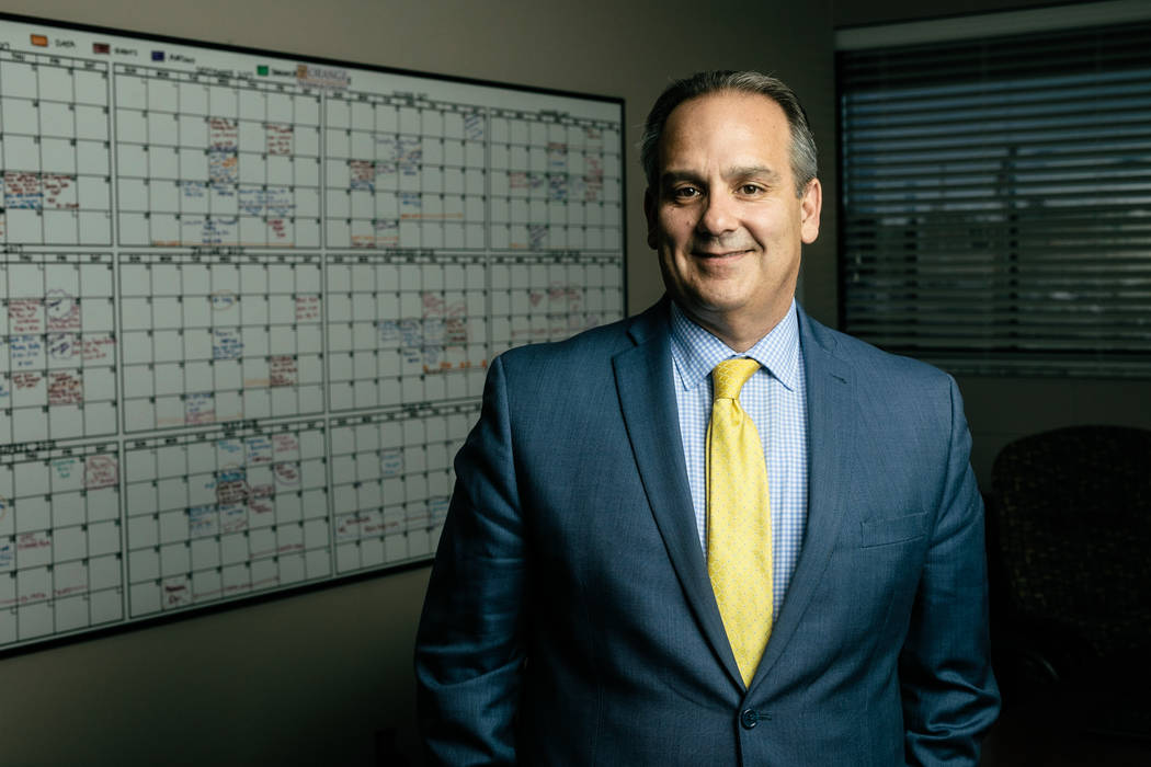 Jesus Jara, Clark County School District Superintendent, poses for a portrait at Mid Florida Tech in Orlando on May 22, 2018. (Blake Jones/Las Vegas Review-Journal)