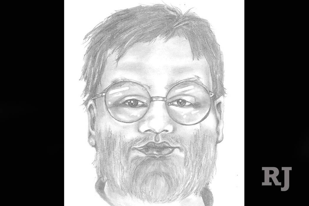 Sketch of sexual assault suspect (Las Vegas Metropolitan Police Department)