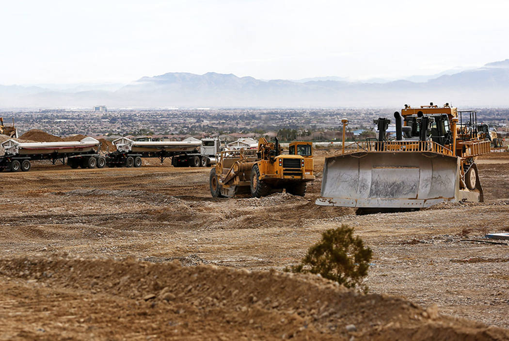 Construction begins for a $65 million project aimed at improving a six mile stretch of U.S. Highway 95 in Las Vegas, Thursday, Feb. 1, 2018. (Las Vegas Review-Journal)
