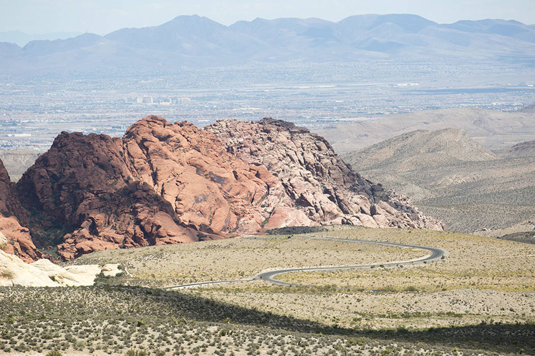 The scenic loop is seen at Red Rock Canyon National Conservation Area in 2017. (Las Vegas Review-Journal)