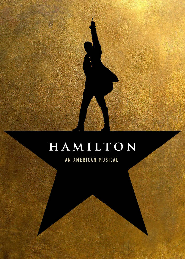 """Logo for """"Hamilton,"""" which opens at The Smith Center May 29."""