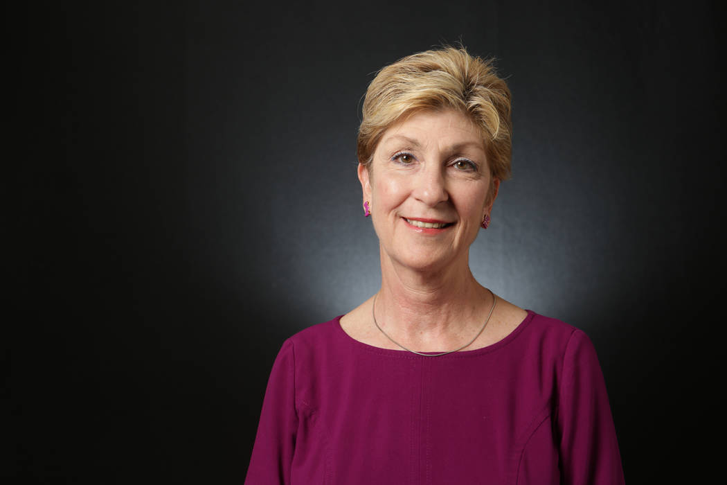 Chris Giunchigliani, Democratic candidate for Nevada Governor, is photographed at the Las Vegas Review-Journal offices on Monday, May 7, 2018. Michael Quine/Las Vegas Review-Journal @Vegas88s