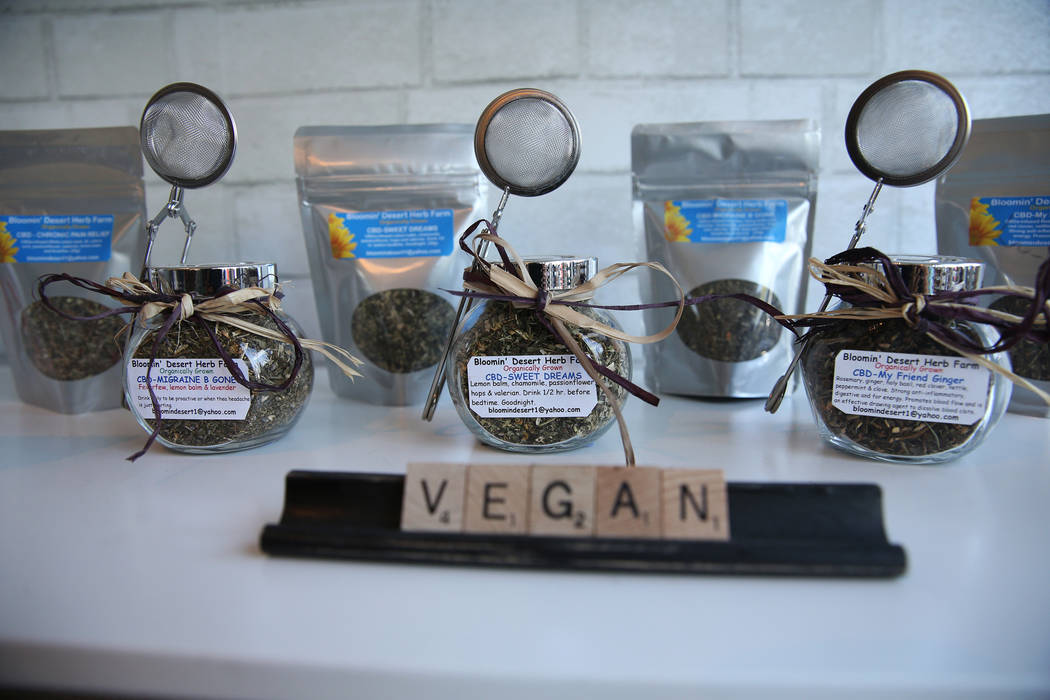 CBD infused tea leaves inside the newly opened KANA Modern Apothecary hemp shop in downtown Las Vegas, Friday, June 1, 2018. Erik Verduzco Las Vegas Review-Journal @Erik_Verduzco