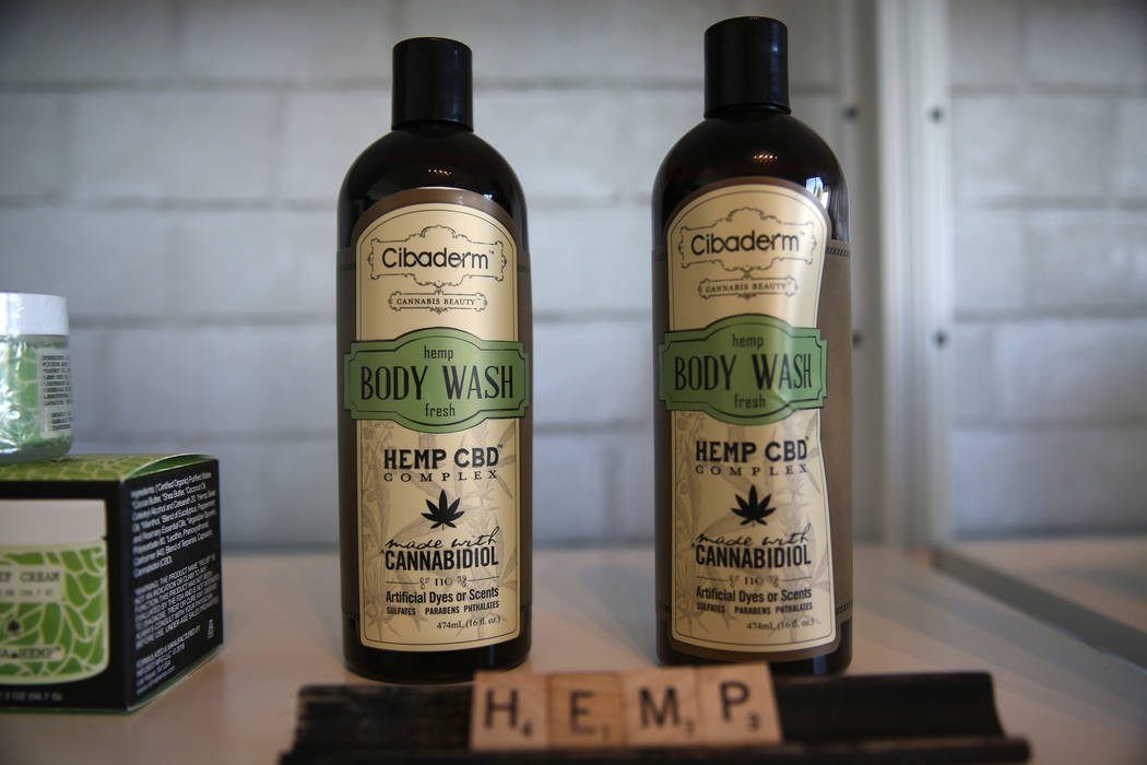 Hemp body wash at the newly opened KANA Modern Apothecary hemp shop in downtown Las Vegas, Friday, June 1, 2018. Erik Verduzco Las Vegas Review-Journal @Erik_Verduzco