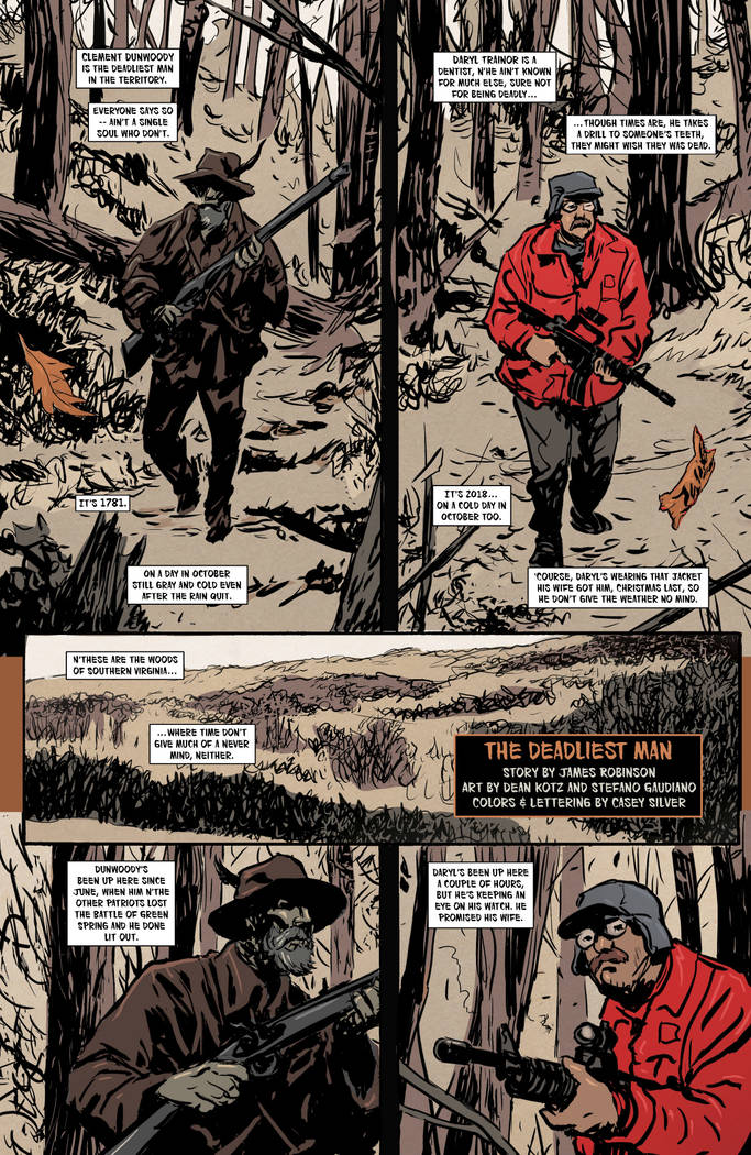 "A page from ""Where We Live"" features a story by James Robinson"