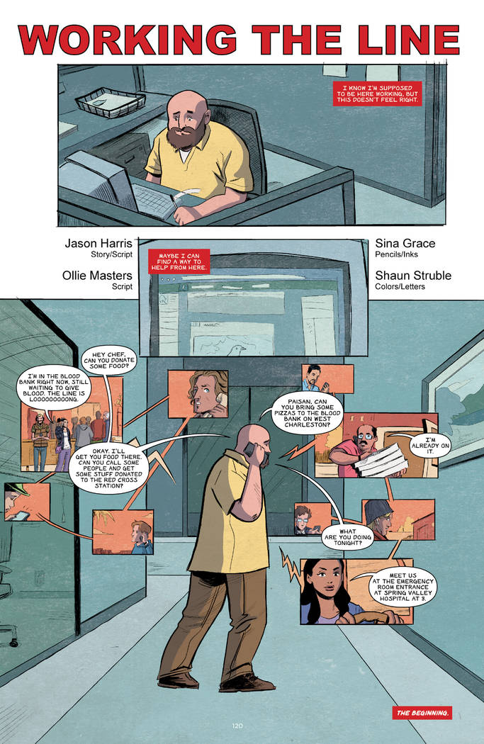 "A page from ""Where We Live"" features a story by Jason Harris."