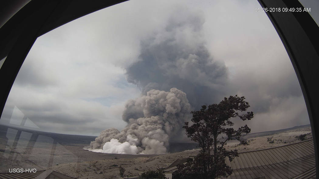 Activity is seen at Kilauea's summit in May. (U.S. Geological Survey via AP)