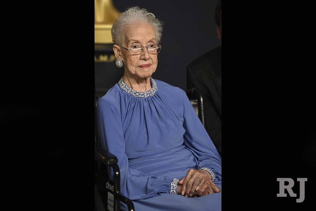 "Katherine Johnson's NASA contributions were later recognized in the ""Hidden Figures"" movie, with actress Taraji P. Henson playing her role. (AP)"
