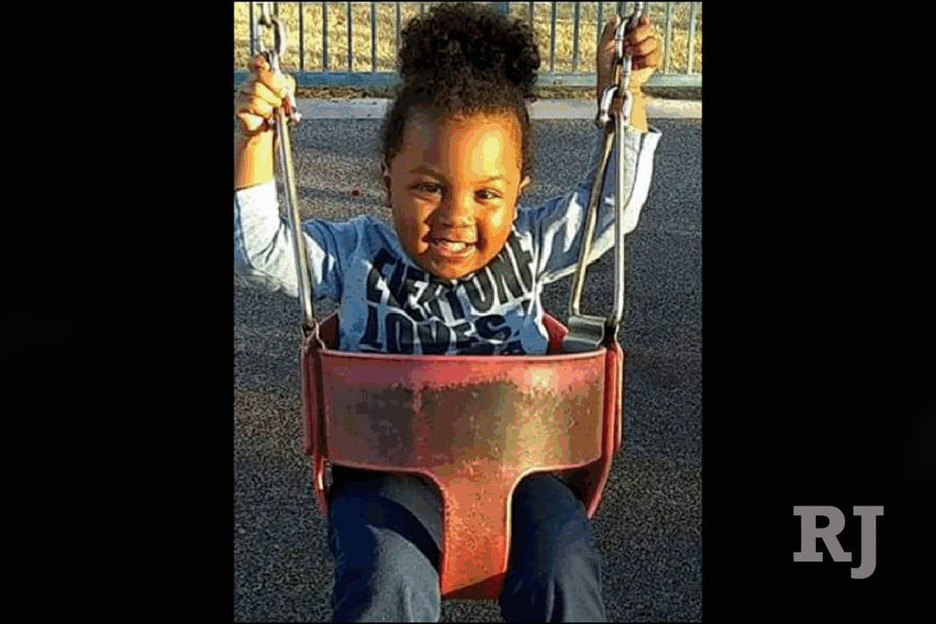 Messiah Logan, 2, died Wednesday, May 30, 2018, in an accidental shooting at a home in east Las Vegas. (courtesy)