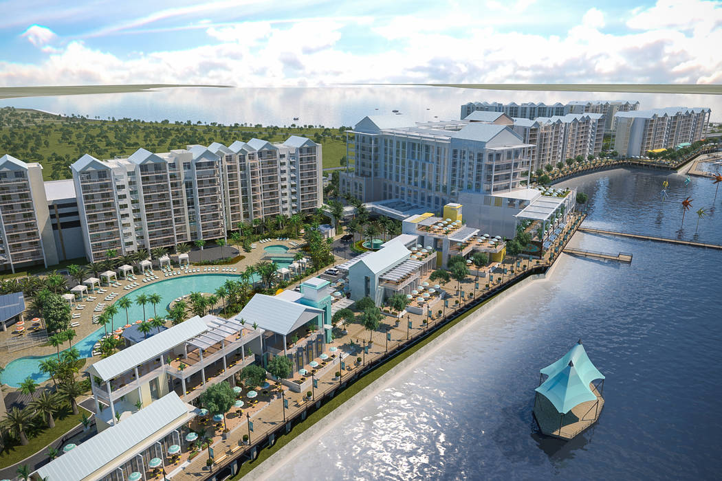 An artist's renderings of Sunseeker Resort Charlotte Harbor, Allegiant Air's first foray into the hotel and condo business in Port Charlotte, Florida. Construction is scheduled to start by fall on ...