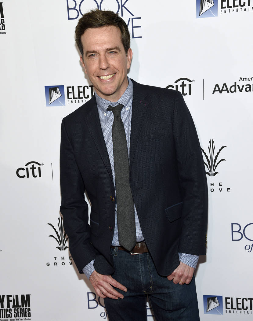 """Ed Helms arrives at the Los Angeles premiere of """"The Book of Love"""" at Pacific Theatres at The Grove on Tuesday, Jan 10, 2017. (Photo by Chris Pizzello/Invision/AP)"""