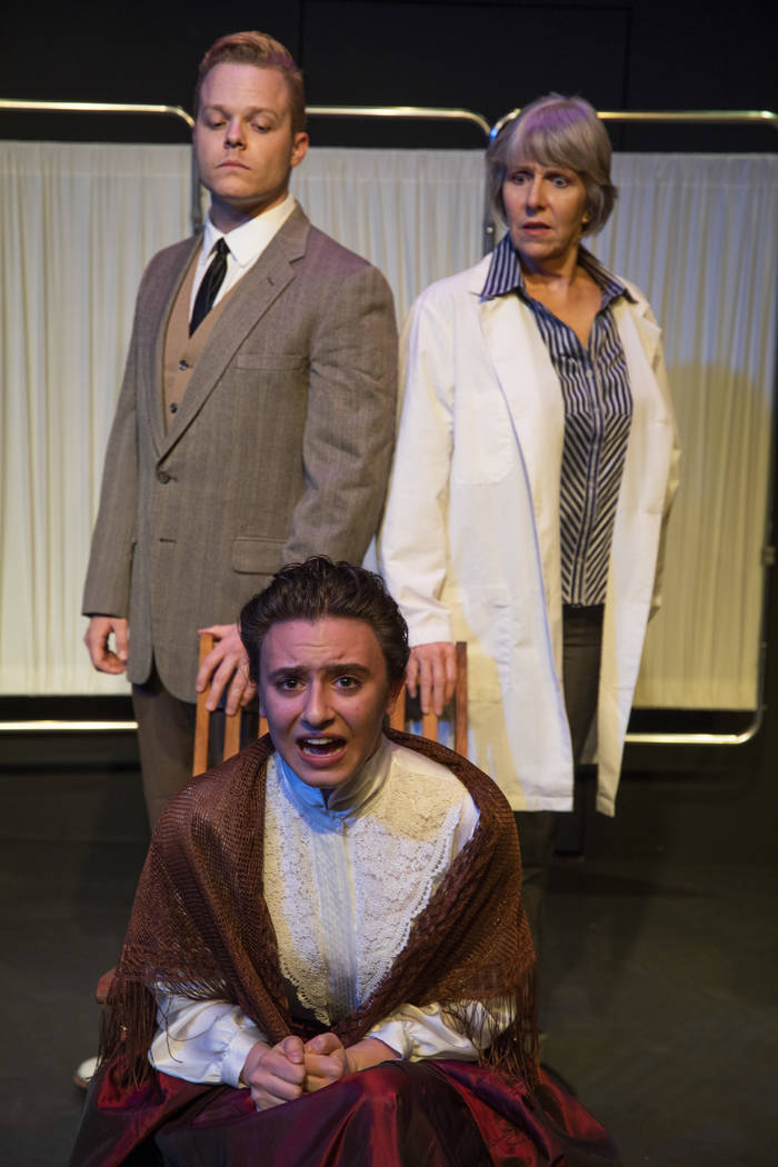 "Michael Blair, left, Naree Asherian and Teresa Fullerton in Las Vegas Little Theatre's ""Scotland Road,"" part of the ninth annual Vegas Fringe Festival June 8-17."