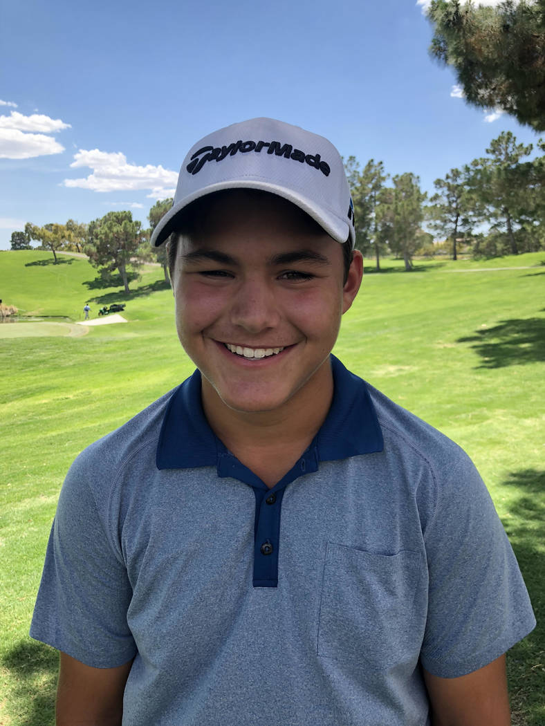 Faith Lutheran's Aidan Goldstein is a member of the Las Vegas Review-Journal's all-state boys golf team.