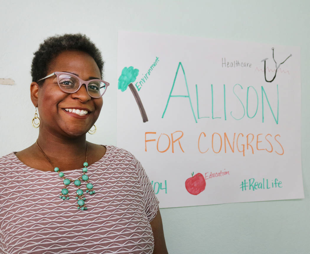 Allison Stephens, a Democratic candidate for Congressional District 4 in her campaign office in Las Vegas, Tuesday, June 5, 2018. Madelyn Reese/Las Vegas Review-Journal