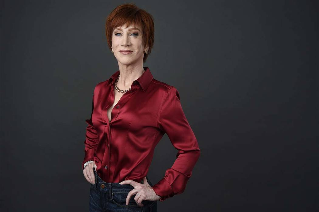 In this March 22, 2018 file photo, comedian Kathy Griffin poses for a portrait in Los Angeles. Griffin will be honored Tuesday, June 5, by West Hollywood for raising more than $5 million for HIV/A ...