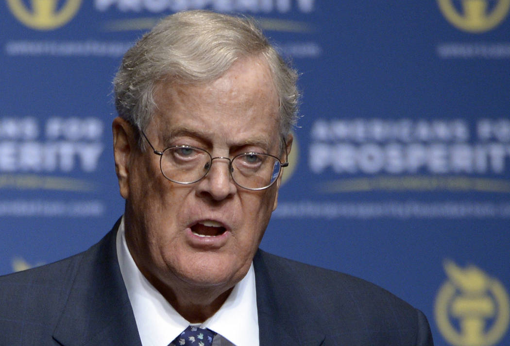 Americans for Prosperity Foundation Chairman David Koch is stepping down from the Koch brothers network of business and political activities. The 78-year-old cited health reasons in a letter distr ...