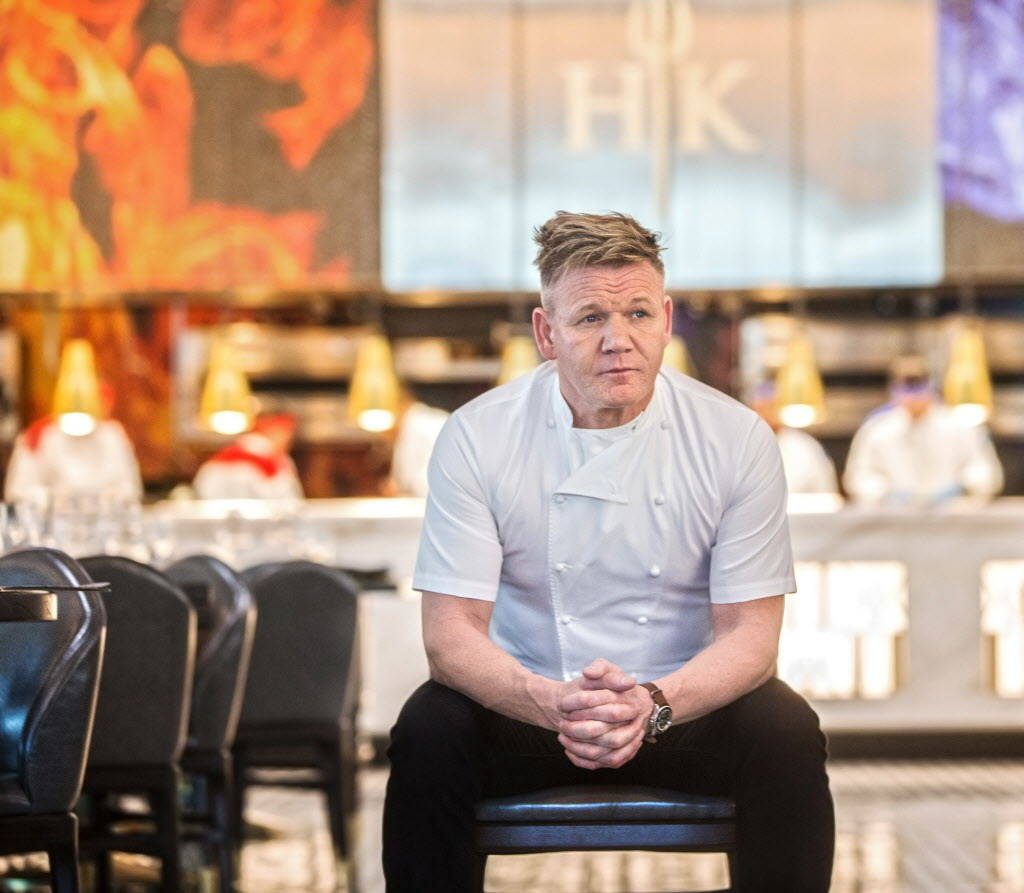 Celebrity chef Gordon Ramsay at the site of his fifth Strip restaurant Hell's Kitchen on Sunday, January 7, 2018, at Caesars Palace hotel-casino, in Las Vegas. Benjamin Hager Las Vegas Review-Jo ...