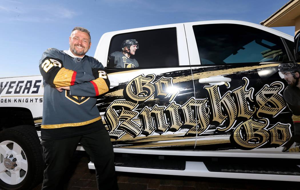Lynn Groesbeck shows his custom Vegas Golden Knights truck at his Las Vegas home Tuesday, June 5, 2018. K.M. Cannon Las Vegas Review-Journal @KMCannonPhoto