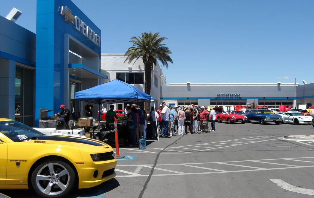 Ed Bozarth Chevrolet Ed Bozarth Nevada Chevrolet hosted a festive Memorial Day celebration that included a car show and barbecue food from John Mull's Road Kill Grill.