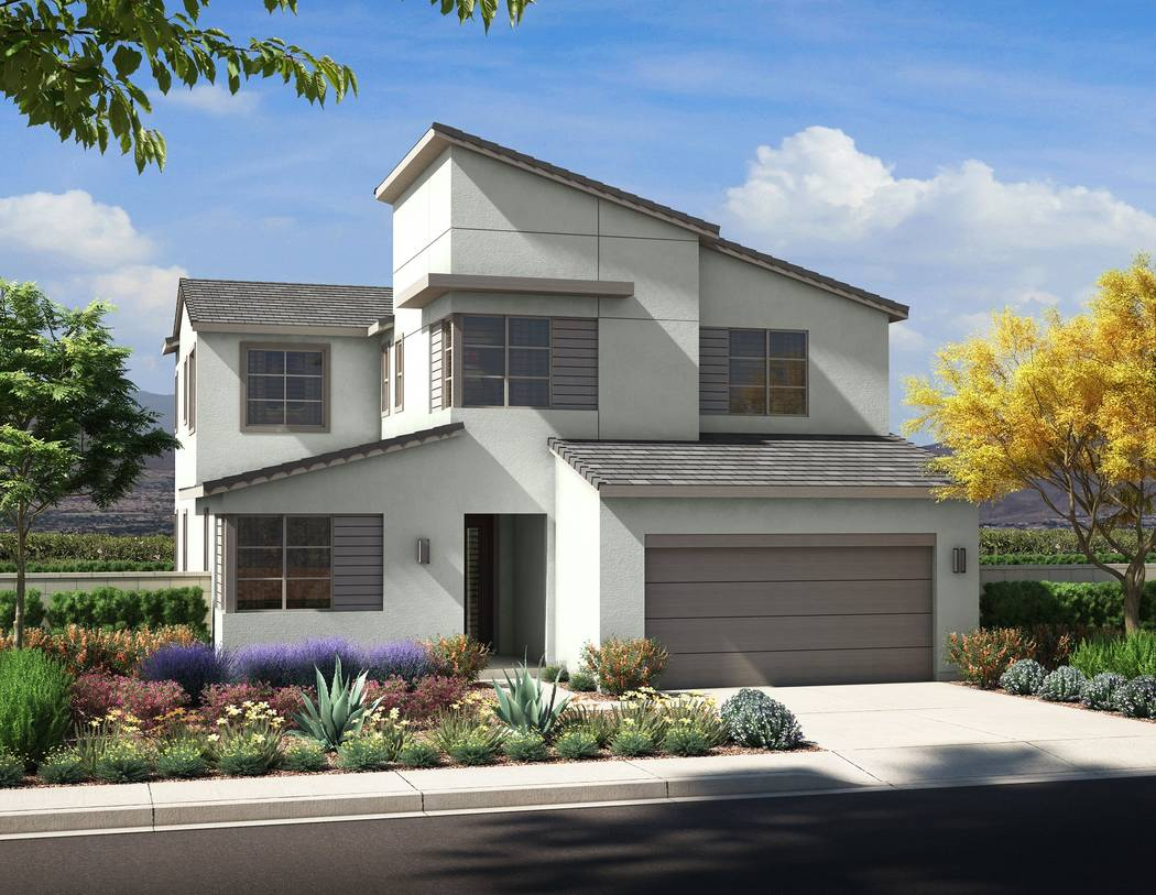 Pardee Homes Pardee Homes will open Larimar and Blackstone in The Villages at Tule Springs on June 16. Shown is an artist's rendering of Larimar Plan One in the Desert Contemporary elevation.